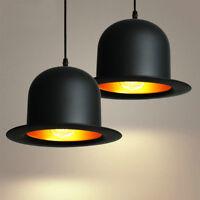 Lampe suspendue Vintage forme Chapeau Noir