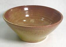 Handmade Clay Bowl Wheel Turned Stoneware Thrown Art