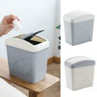Mini Plastic Desktop Trash Bin Countertop Waste Can Rubbish Bin With Swing Lid