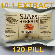 120 PILL Organic Turmeric and Black Pepper 2500mg Curcumin Curcuma Longa Natural