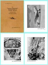 Wackett Aircraft CAC - Operating Instructions on CD