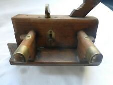 Vintage Wooden and Brass  Plough Plane in Good Condition. See Pictures.
