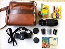 Minolta XG-1 Film SLR 35mm Camera W/ Minolta MD 50mm Japan Star-D 80-205mm Lens