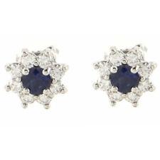 Tiffany & Co. Flor Aretes Azul zafiro y diamantes con platino