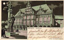 """Bremen, Rathaus, """"Halt ins Licht AK"""", 1900"""
