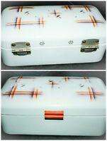 Enamel BREAD BOX ART DECO Enamelware BreadBox Large Boite a pain emaillee