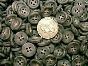 New 50 or 25 gray/black Buttons rimed 5/8 =15mm Bulk Wholesale  # BK13