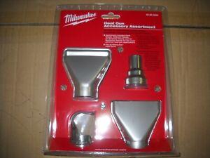 Milwaukee 49-80-0300 Heat Gun Accessory Assortment Nozzles Deflector NEW