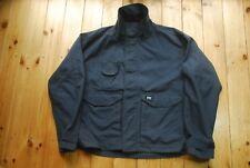 Men's Dark Blue Grey Cordura Canvas Helly Hansen Chore Work Jacket XL