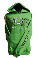 Horseshoe Horse Hoodie,LIVE for the RIDE, xL,cotton, womens, green,sweatshirt,