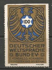 Germany/Nuremberg 1912 II IDO Congress poster stamp/label