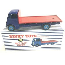 Dinky Toys 512 - GUY FLAT TRUCK Bleu/Rouge 1:50, Atlas
