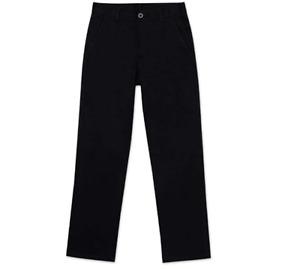 Nautica Big Boys' Uniform Flat Front Pant, Black, Medium/12 R