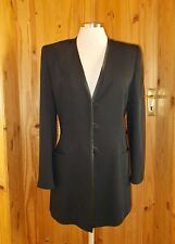PATSY SEDDON PHASE EIGHT black long sleeve single breasted suit jacket blazer 12
