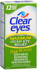 Clear Eyes Maximum Itchy Eye Relief Drops - 0.5 oz  (3 PACK)