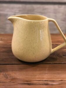 Bauer Yellow Speckled Pottery Pitcher