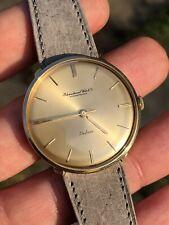Vintage IWC Schaffhausen DeLuxe 18k Gold Mens Watch Vintage Swiss Cal.402