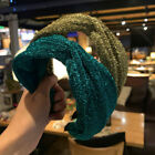 Shiny Wide Head Hoop Bezel Hair Band Women Knot Headband Hair Accessories