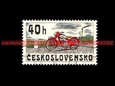JAWA 250 PRAHA 1945 - CESKOSLOVENSKO - TCHECOSLOVAQUIE : Timbre Poste Moto