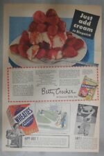 """Wheaties Cereal Ad: Baseball Comic """"Slow Ball"""" from 1945 11 x 15 inches"""