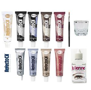 Refectocil Eyelash Tint Eyebrow Tinting Dye Kit Brush Dish Eye Lashes Developer!