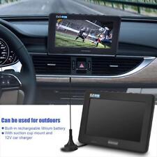 "7"" tragbar Fernseher Mini TV DVB-T/T2 16:9 HD Digital/Analog Player für Auto neu"