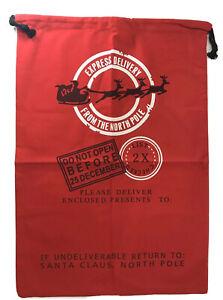 Christmas 🎄 Santa Sacks Bag Blank Gift Bag Extra Large Red Black Reindeer