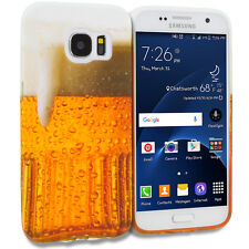For Samsung Galaxy S7 Edge TPU Design Soft Skin Case Cover Beer