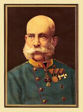 Emperador Franz Josef I. de Austria Portrait K & K XL-facsímil 107 en el marco de oro