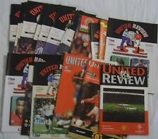 Man Utd Football programmes