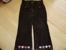 GYMBOREE FALL PANTS 3T 3 T BIRTHDAY CUPCAKE CUTIE BROWN CORDUROY EUC WINTER MINT