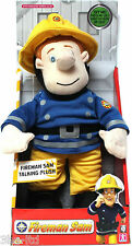 "Fireman Sam Talking Plush 12"" Toy includes music & phrases. Soft & cuddly. New"