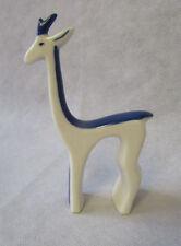 Vintage Midcentury Modern 1950s Royal Dux Stylized Blue White Giraffe Figurine