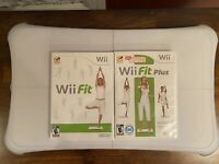 GENUINE NINTENDO WII FIT PLUS BALANCE BOARD AND GAMES TESTED WORKING RVL-021