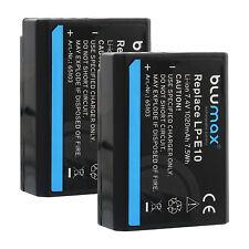 2x Akku für Canon LP-E10 | 65103|EOS 1100D 1200D 1300D Rebel T3 T5 Kiss- X50 X70