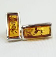 Ambra Orecchini VERA ambra baltica argento sterling 925 ARANCIONE AMBRA 17/E1213
