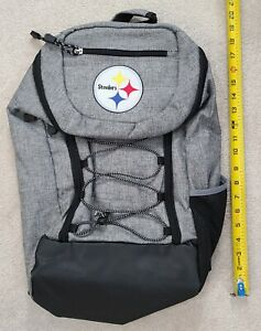 NFL Pittsburgh Steelers Backpack Grey/Black Mesh Pockets BTS Free Shipping