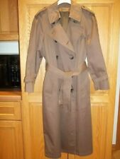 Vintage 1980s Women's London Fog Trench Coat Brown/Double Breasted/Liner Size 6P