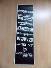 Motorhauben Sponsoren Streifen Aufkleber  110x30cm Tuner Logos - Performance