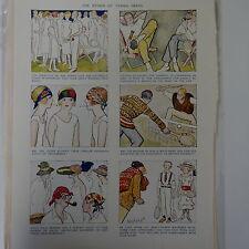 "7x10"" punch cartoon 1925 THE ETHICS OF TENNIS DRESS"