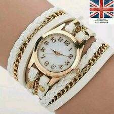 High Quality White Fashion Bracelet Watch Birthday Present Summer Hot UK Gift