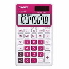 Casio SL-300NC-RD-s RED Electronic Calculator 10 Digit LCD Twin Power Tax Time