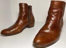 JM Weston Chelsea Boots Zipper Men's -Tan Calfskin- Sz 8.5 E, EU 42, 8 UK & AUS