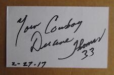 DUANE THOMAS SIGNED AUTOGRAPH 3X5 INDEX CARD NFL 1972 SUPER BOWL MVP COWBOYS