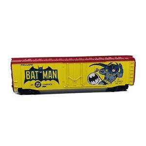Vintage HO Tyco DC Comics Batman 50' Box Car Train Car C
