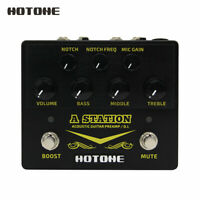 Hotone A Station Acoustic Preamp /DI Box Guitar Microphone Guitar Effects Pedal