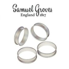 Mermaid Crumpet Rings Set of 4 Aluminium Muffin Mould Poached Egg 8.5 cm Ring