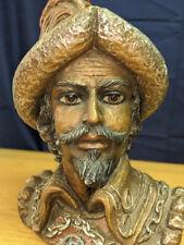 L👀K Vintage, Mcm - Marwal Inc. - 'Spanish Royal' Chalkware Bust, Head, Statue