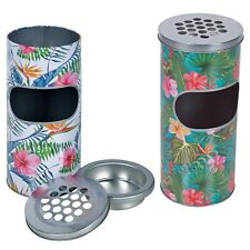Free Standing Smokers Stainless Steel Cigarette Ash Tray Litter Bin Home Office