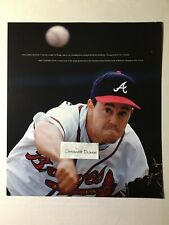 Greg Maddux Baseball Braves 1993 Photo Photograph Throwing Ball Scene
